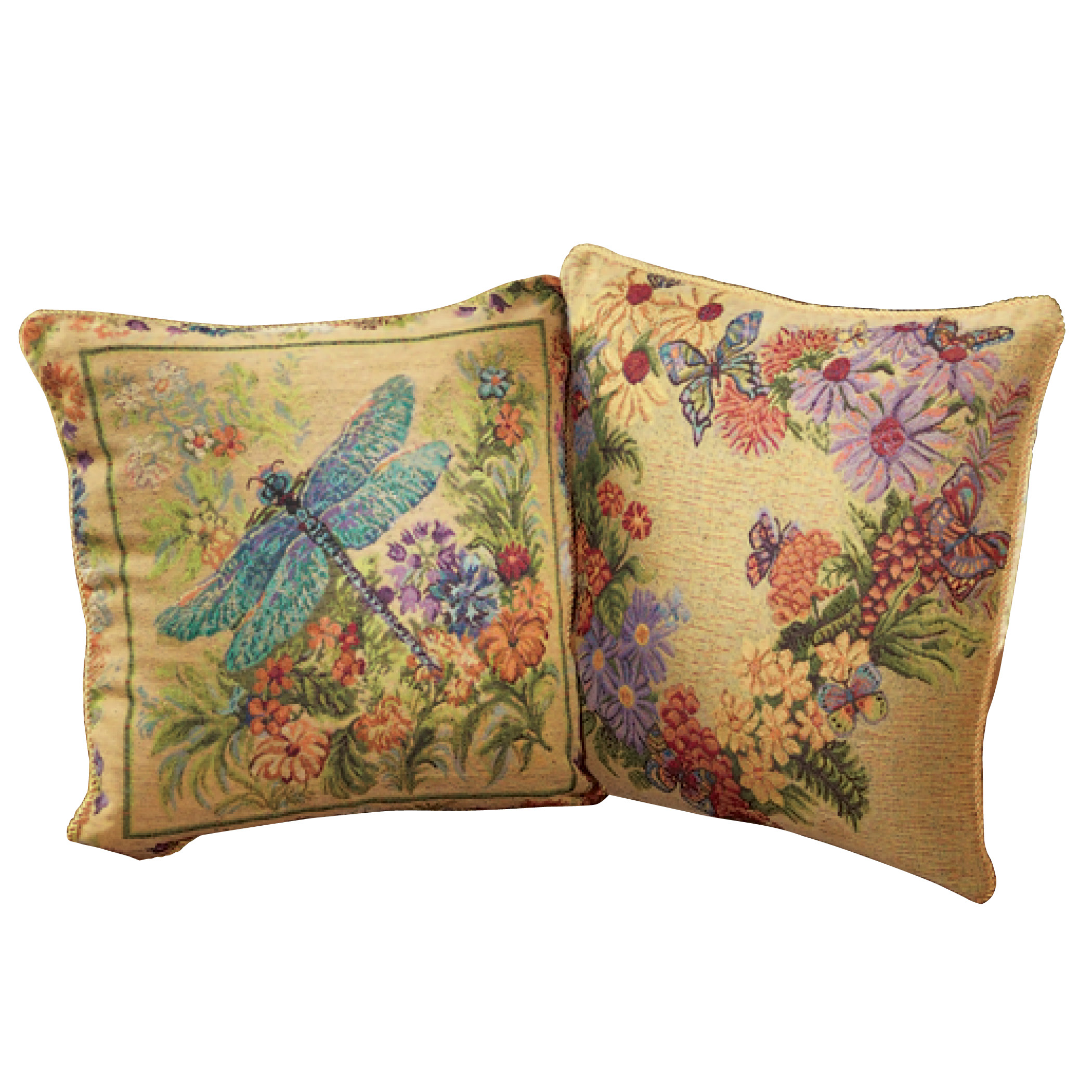 collections etc garden floral reversible pillow covers set of 2