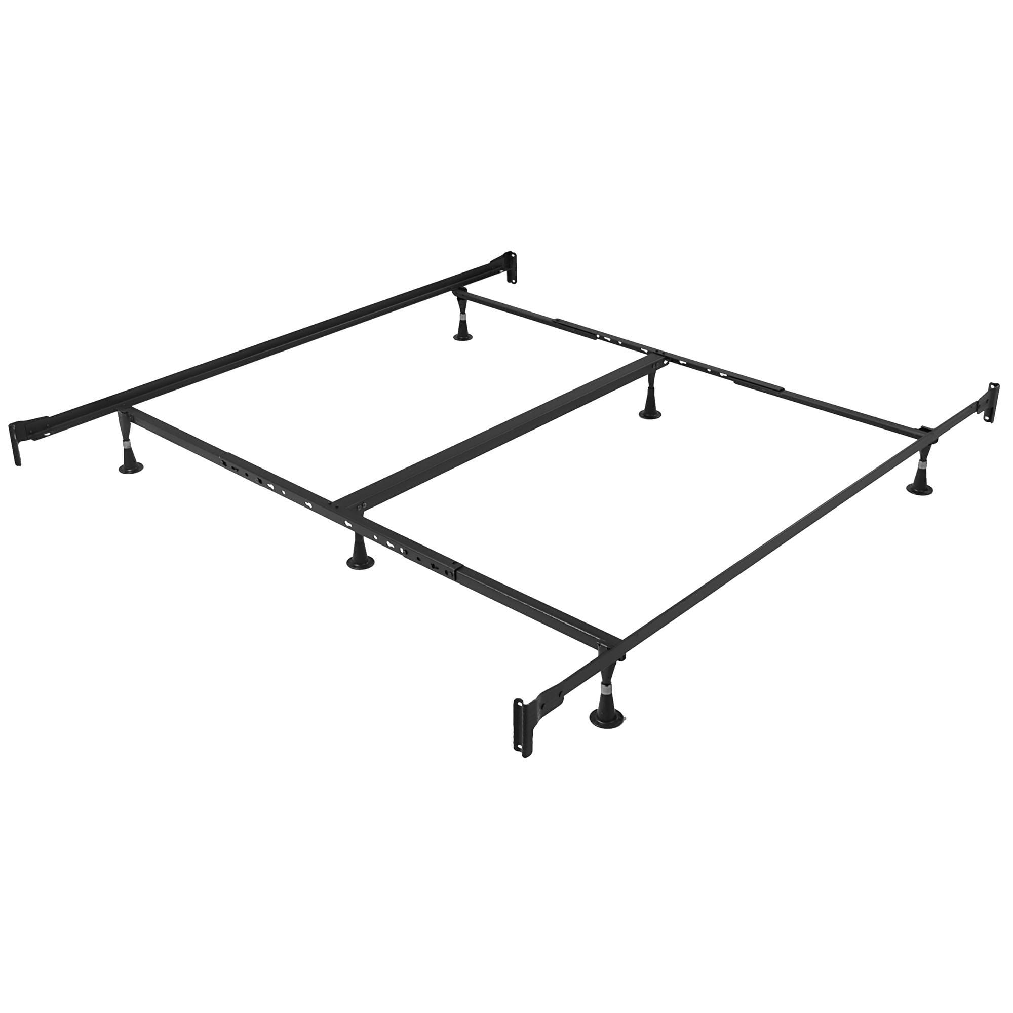 Queen King Size Mattress Boxspring Steel Metal Bed Frame