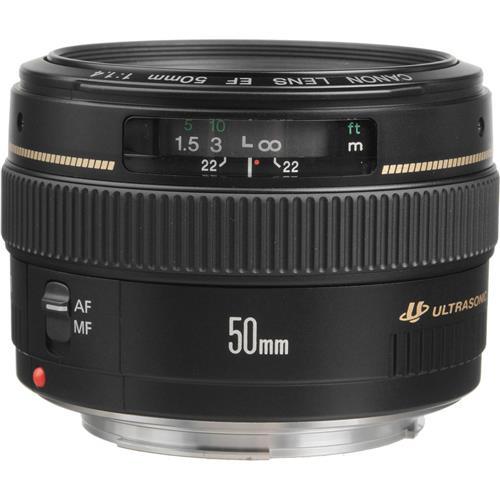 Canon EF 50mm f/1.4 USM Standard AutoFocus Lens - USA