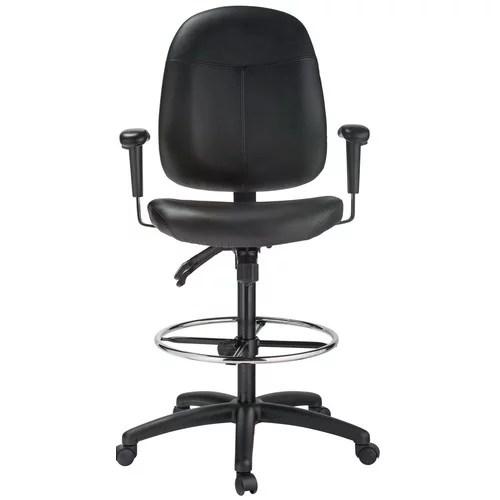 Harwick Furniture High Back Leather Drafting Chair