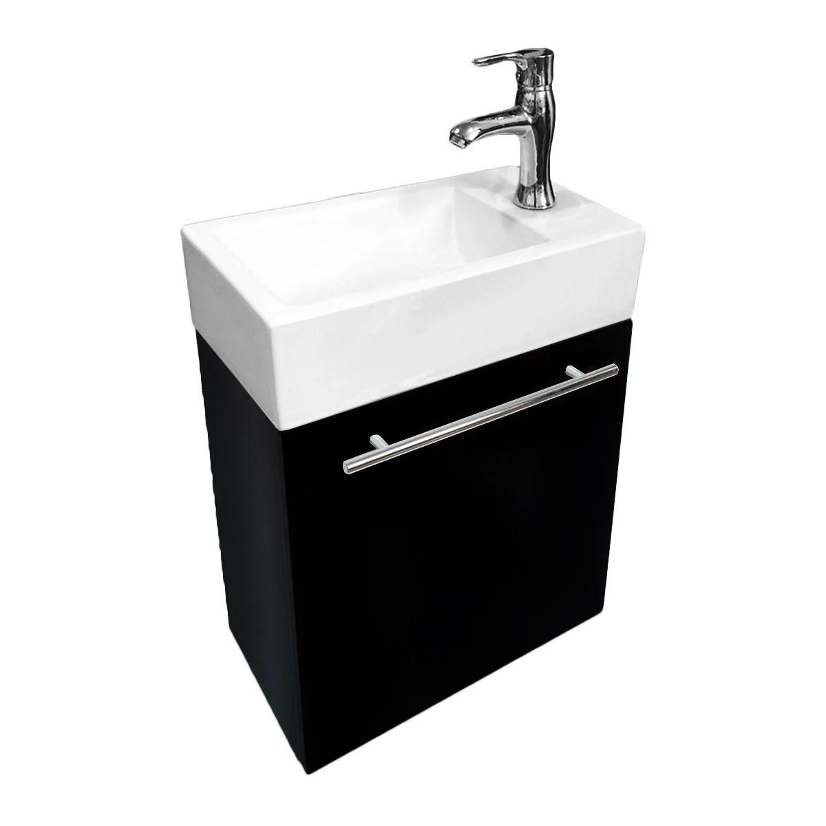 Renovators Supply Small Wall Mount Bathroom Vanity