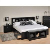 Prepac Sonoma Black King Bookcase Platform Bed 3 Piece