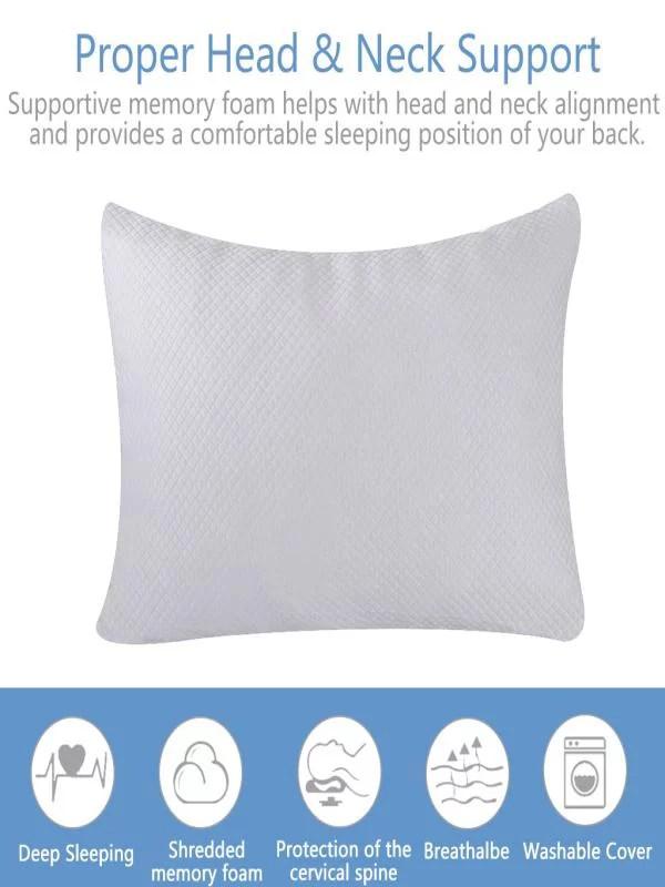 bamboo fiber and memory foam pillow combination adjustable height pillow