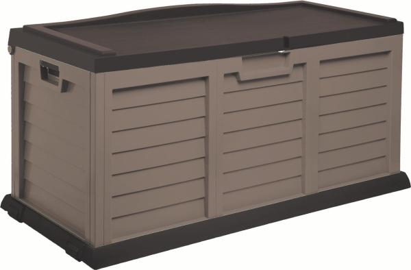 103 Gallon Deck Box With Sit- Cover Mocha Brown