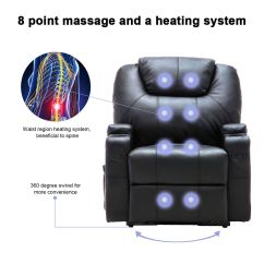 Massage Chair With Heat White Executive Office Costway Electric Lift Power Recliner Heated Sofa Lounge W Remote Control Walmart Com