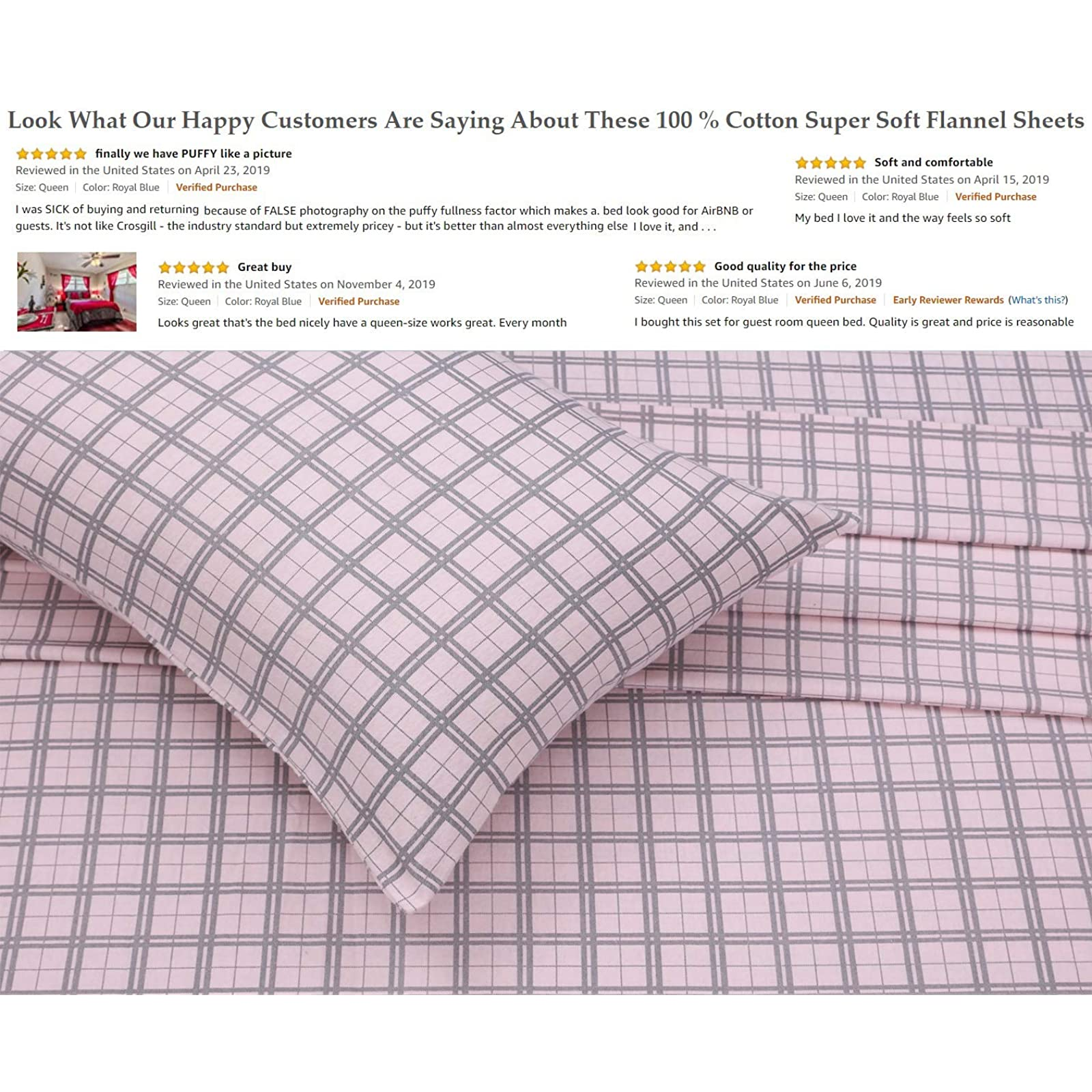 cotton 4 piece flannel sheets full deep