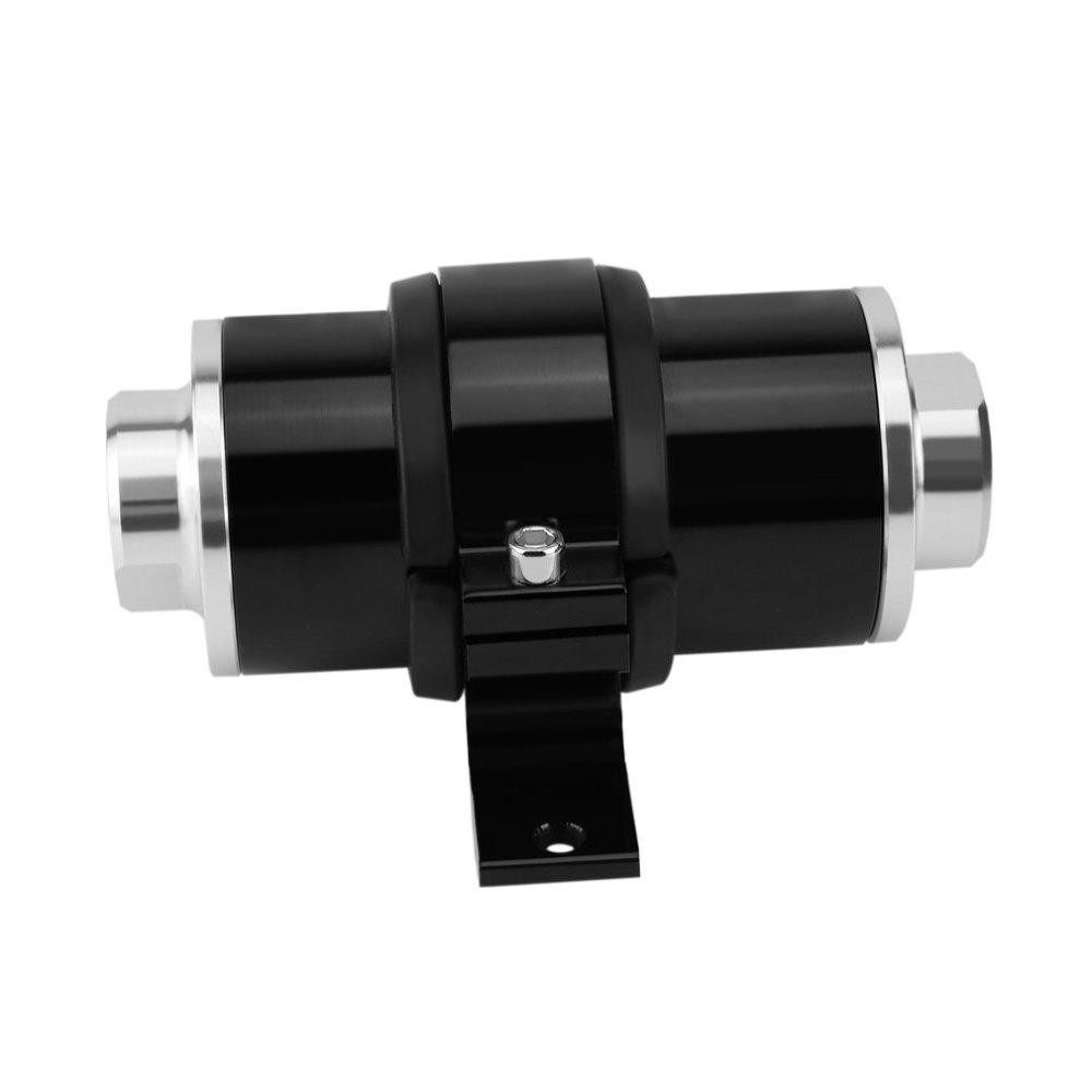 medium resolution of inline fuel filter 30 micron high flow aluminum inline fuel filter with an6 an8 an10 bracket walmart com