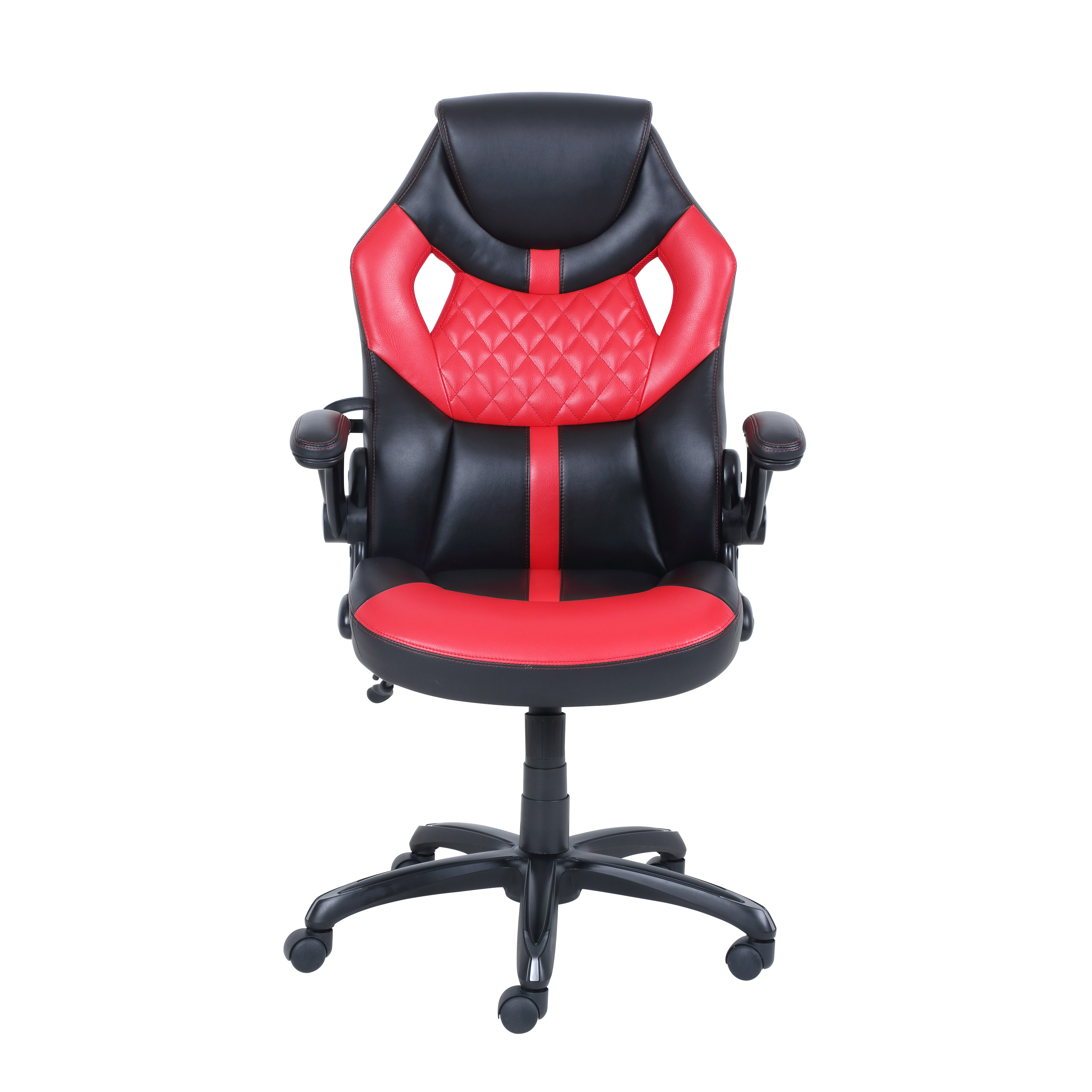 office chair red egg swing rural king gaming style with racing design rich contrasting colors true innovations walmart com