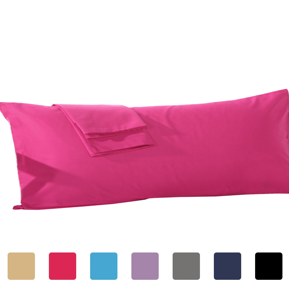 pillowshams pillowcase cover pillow cases body size 250tc cotton red 21 x 55 inch