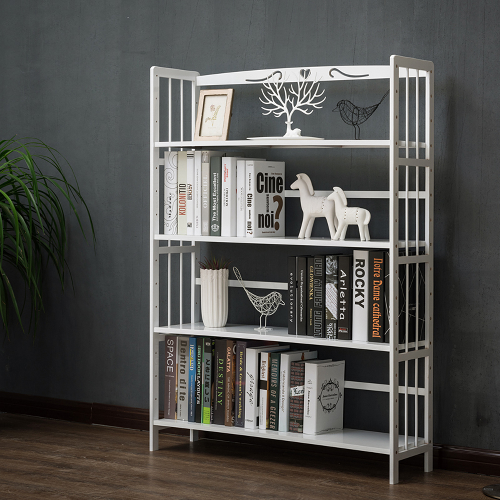 4 6 tier tall etagere bookcase bamboo standing bookshelf vintage book shelf unit open back modern office bookcases furniture for collection white