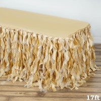 Efavormart Enchanting Curly Willow Taffeta Table Skirt for ...