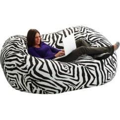 Zebra Print Bean Bag Chair Tufted Cushions Comfort Research Extra Large 6 Fuf Walmart Com