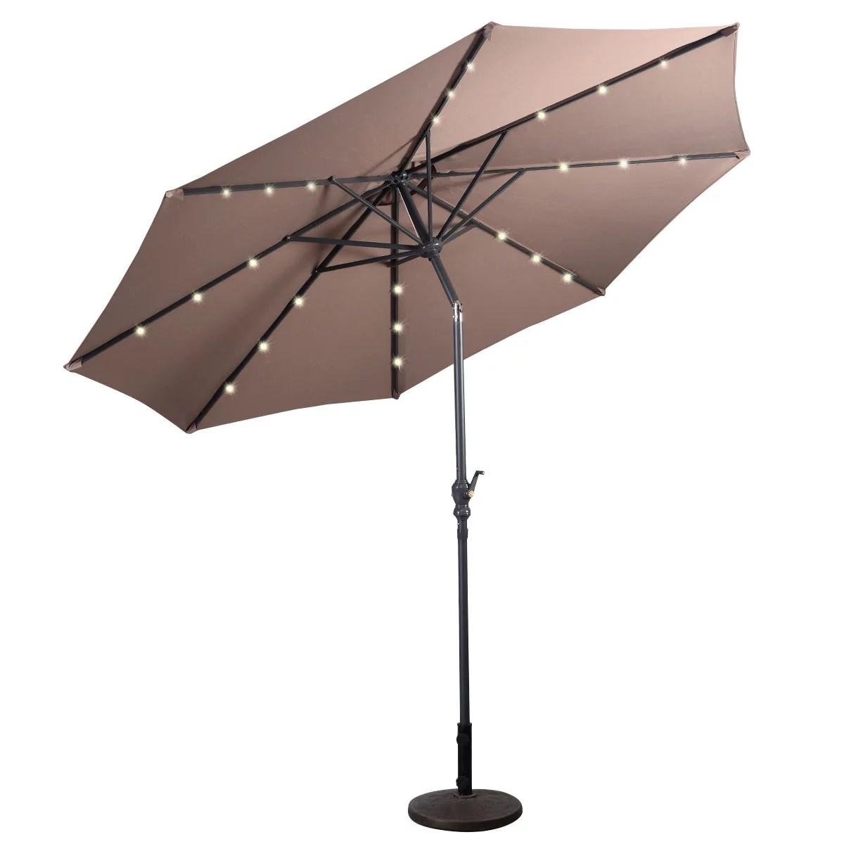 topbuy 10 ft patio market umbrella w solar powered led light walmart com