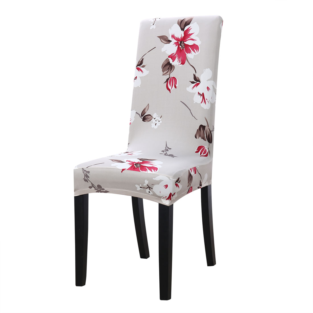 Parsons Chair Covers Washable Chair Covers Stretch Slipcovers Short Dining Room Stool Seat Cover Gray