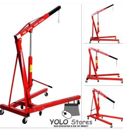 1 ton folding hydraulic engine crane hoist lift stand picker wheel garage by yolo stores walmart com [ 1500 x 1500 Pixel ]