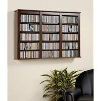 Everett Espresso Wall Mounted Hanging Media Storage ...