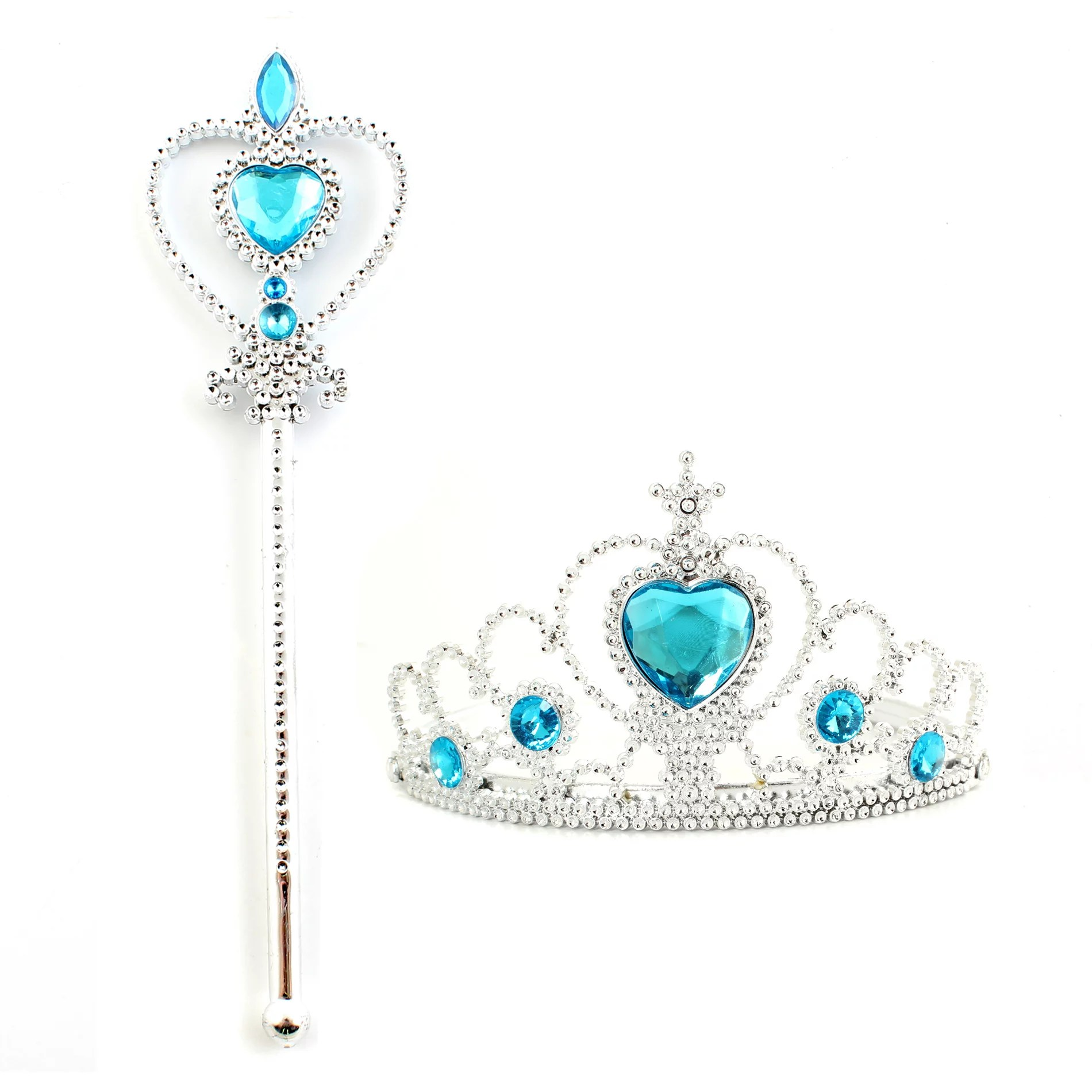 Kids Girl Queen Princess Cosplay Accessories Crown & Wand