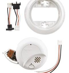 first alert sa9120bpcn 120v ac hardwired smoke alarm with adapter plugs walmart com [ 1500 x 2100 Pixel ]