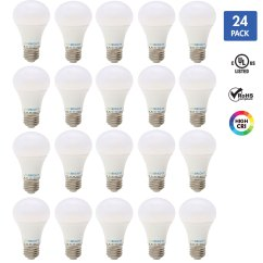 Standard Living Room Light Bulb How To Decorate My Apartment 60 Watt Equivalent 8w A19 Led 24 Pack Cool White 4000k E26 Medium Base Dimmable Great For Lamps Ceiling Walmart Com