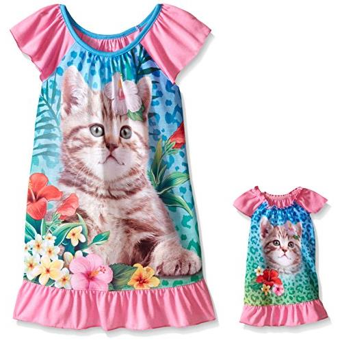 Girls39 Pajamas and Nightgowns with Matching 18 Inch Doll