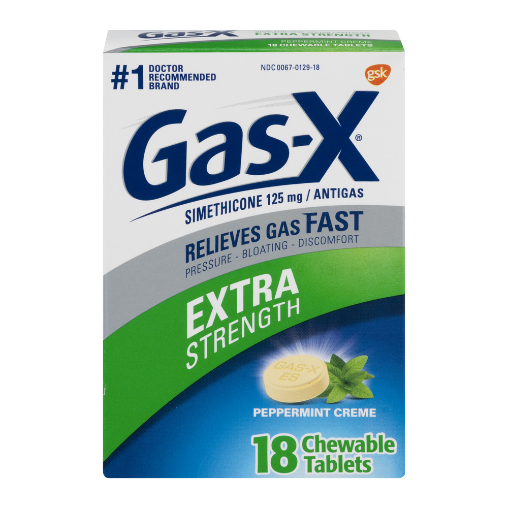 Gas-X Thin Strips Extra Strength Peppermint Individually ...