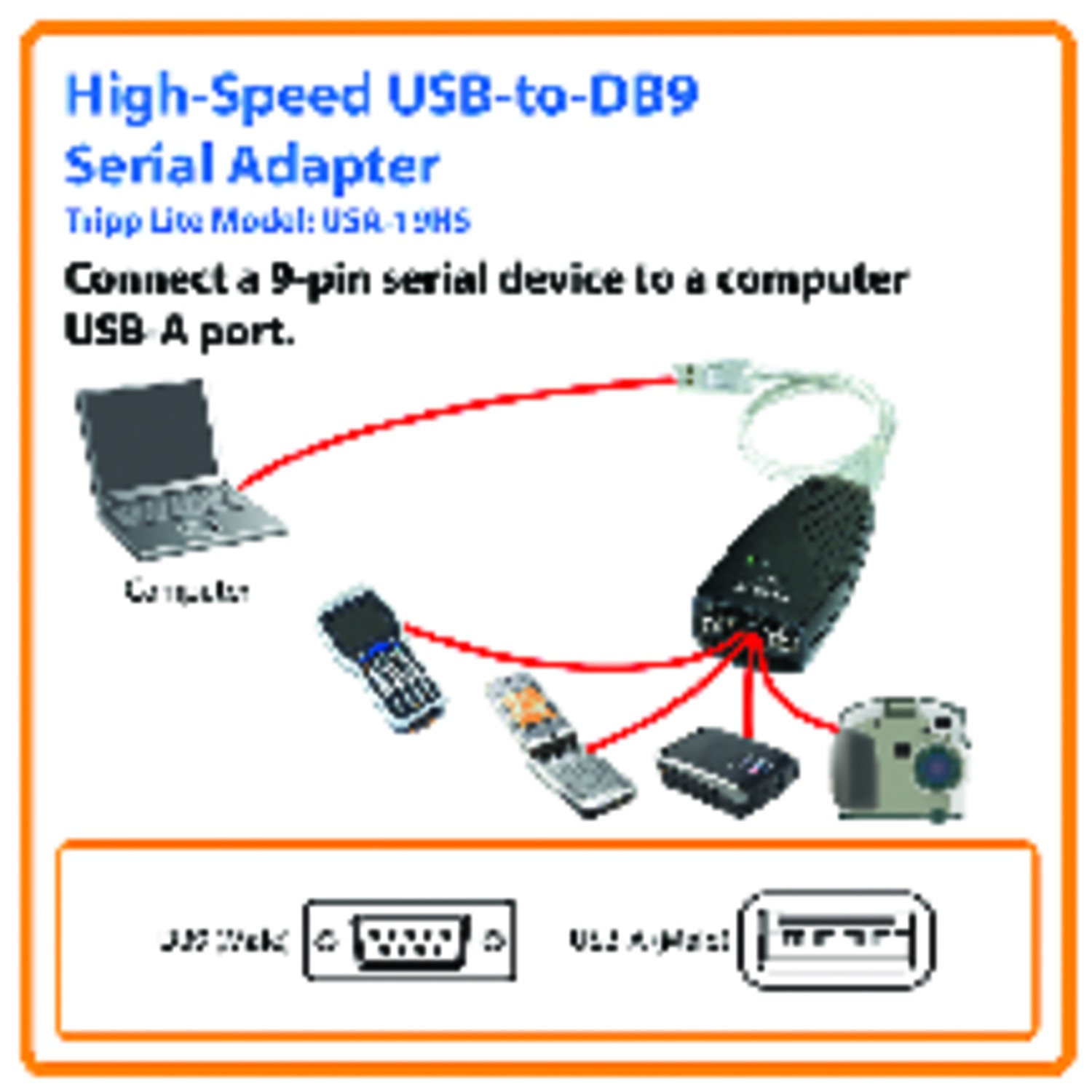 hight resolution of tripp lite keyspan high speed usb to serial adapter serial adapter walmart com