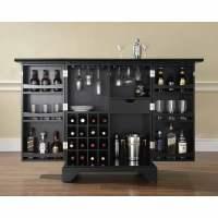 Crosley Furniture LaFayette Expandable Bar Cabinet ...