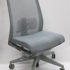 Office Chair Very Oval Back Dining Room Covers Haworth Gray Mesh No Arms Executive Walmart Com