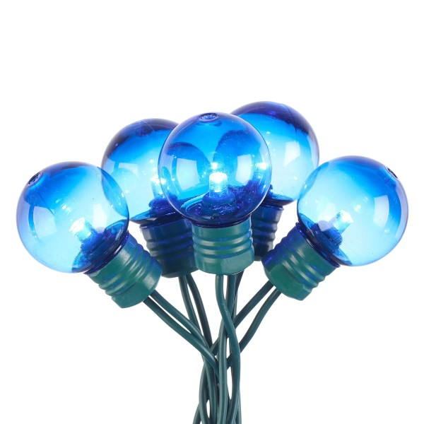 Holiday Time 57 Ft 100 Count Blue Led Super Bright G30 Christmas Lights