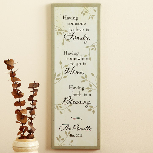 personalized family home blessing