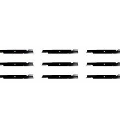 9 usa mower blades for bobcat 72039b wm142180b 42180b 112243 03 61 deck walmart com [ 1527 x 1527 Pixel ]
