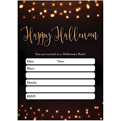 modern halloween party invites envelopes pack of 25 chic adult rustic farmhouse party large blank 5x7 fill in classic costume parties string of