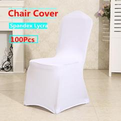 Used Spandex Chair Covers Kid Sized Plastic Adirondack Chairs Hot 100pcs White Folding For Wedding Hotel Dinning Room Supply Party Reception Anniversary Decoration Strechable Slipcover