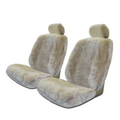 Chair Seat Covers At Walmart Low Chairs Set Of 2 Genuine Sheepskin Stretchback Auto Com