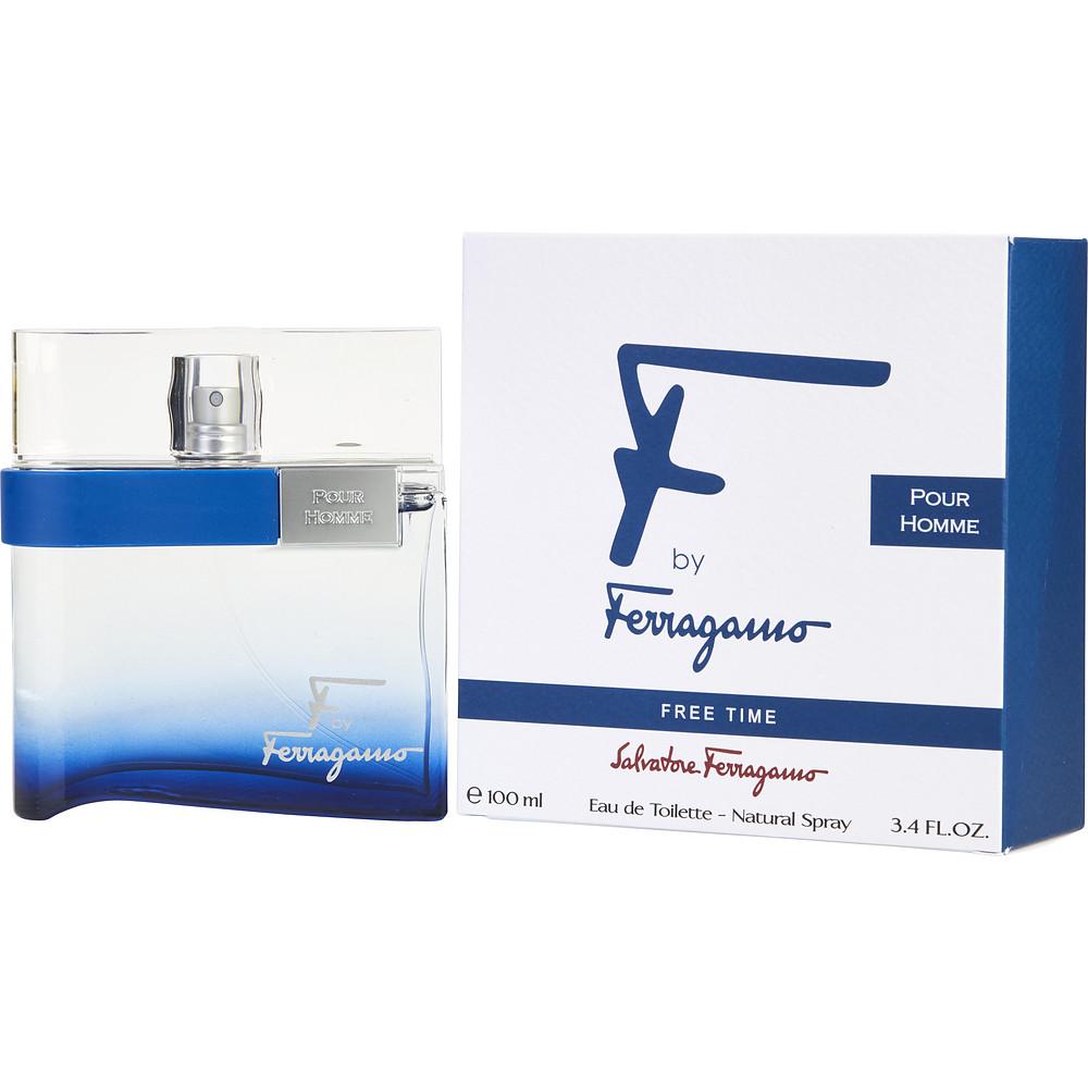 Salvatore Ferragamo F by Ferragamo Free Time Eau De Toilette Spray, Cologne for Men, 3.4 oz