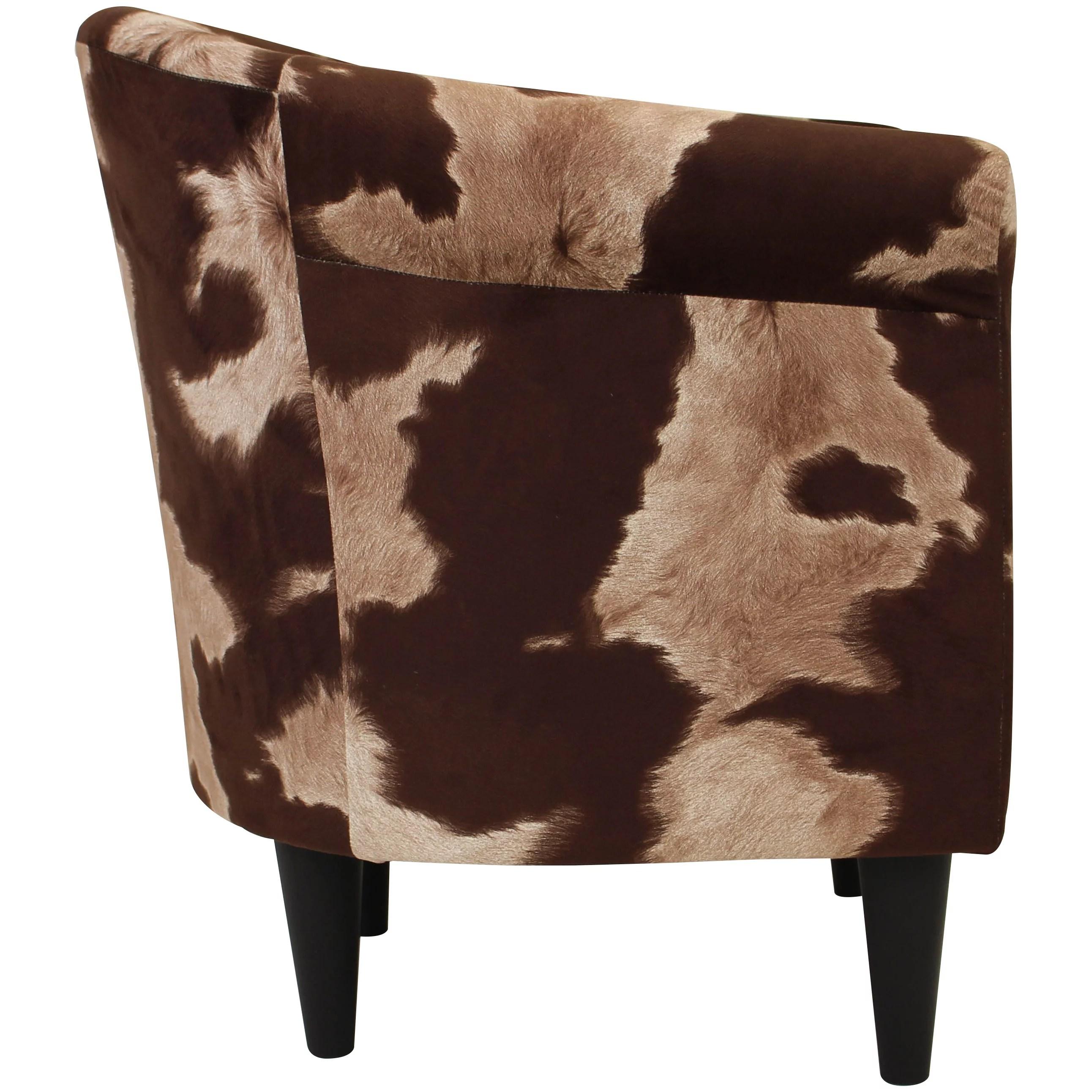Newport Club Chair Cowhide Brown