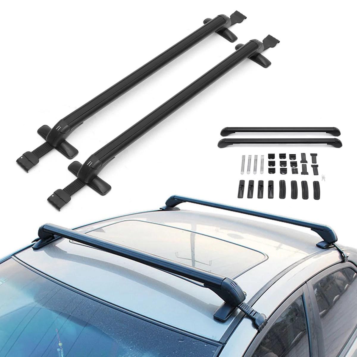 car roof rack cross bars top luggage holder cargo carrier for car roof 41 3 43 anti theft lockable adjustable 331 lb capacity walmart com