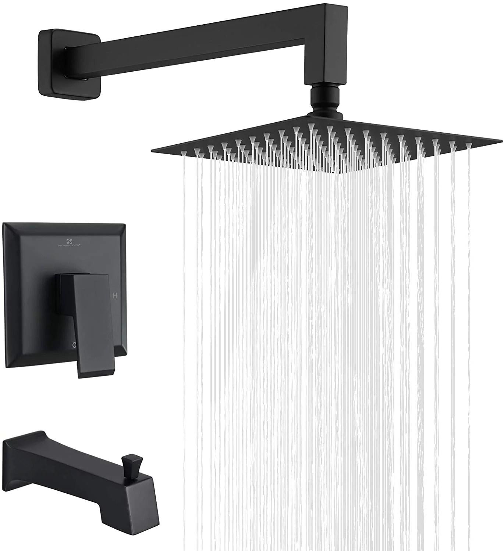 homelody shower faucet shower valve trim kit tub and shower faucet set rainfall shower system with 8 touch clean shower head bathtub faucet