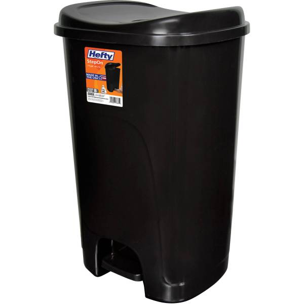 Hefty Step- 13-gallon Trash Black