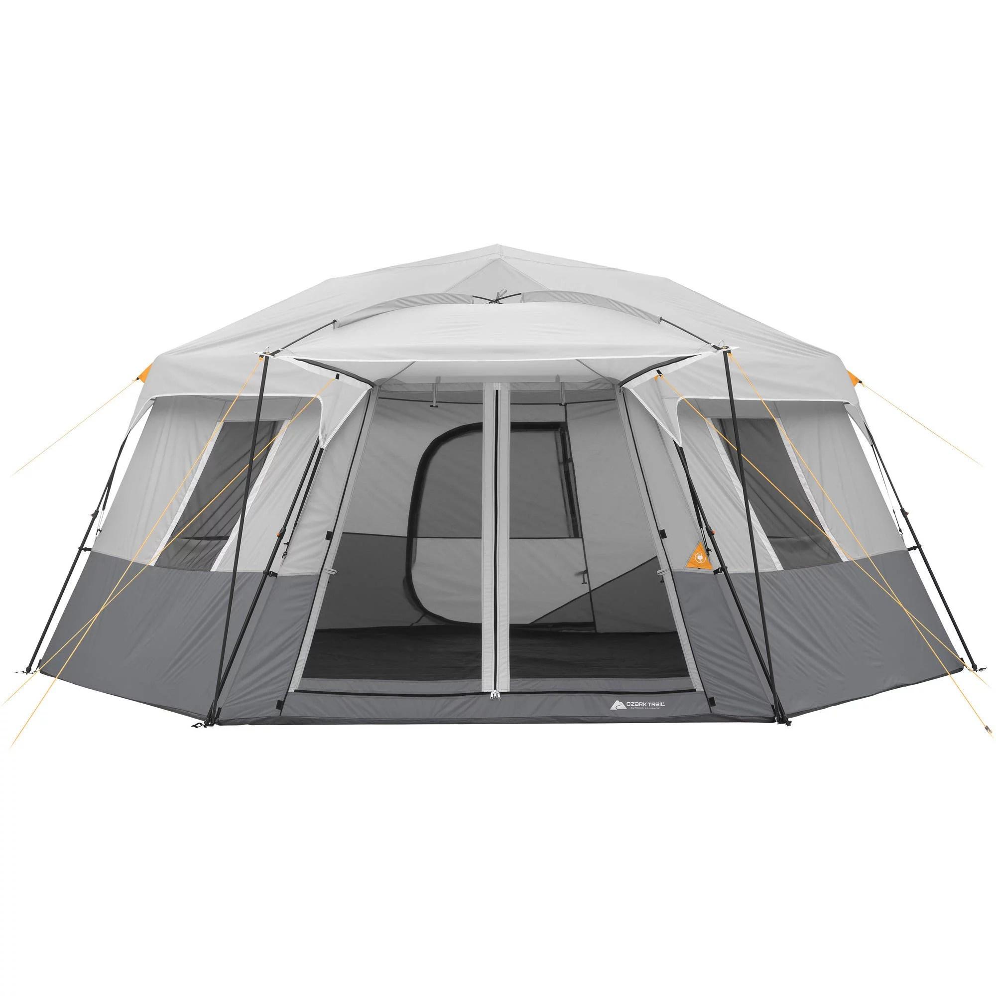 Ozark Trail 17' x 15' Person Instant Hexagon Cabin Tent