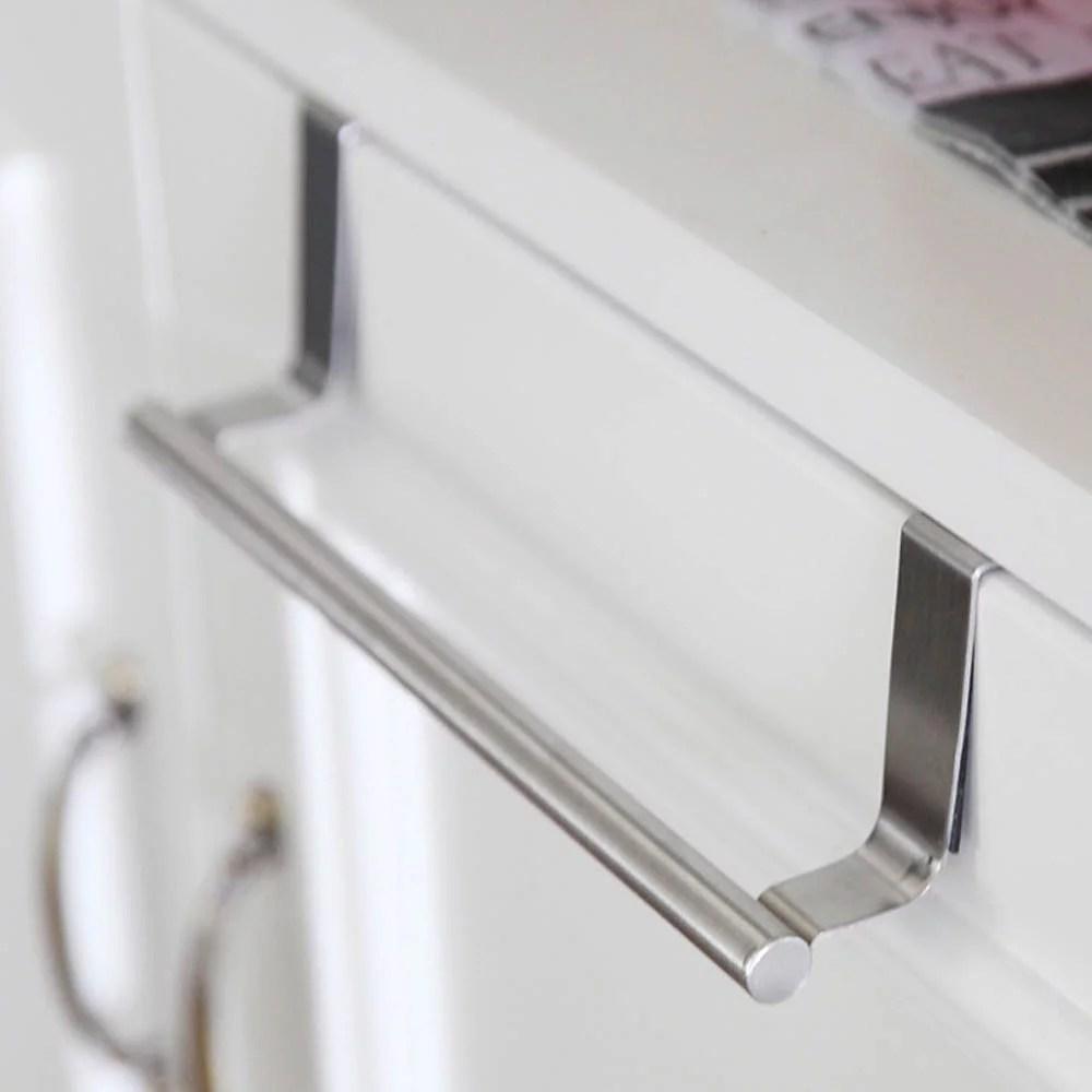 matoen over door towel rack bar hanging holder bathroom kitchen cabinet shelf rack