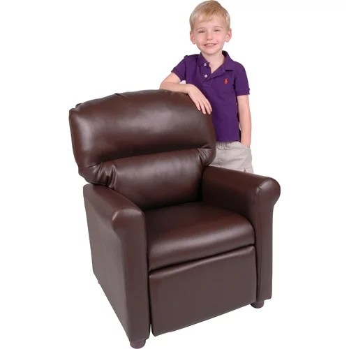kid recliner chair double lawn better homes and gardens faux leather kids multiple colors walmart com