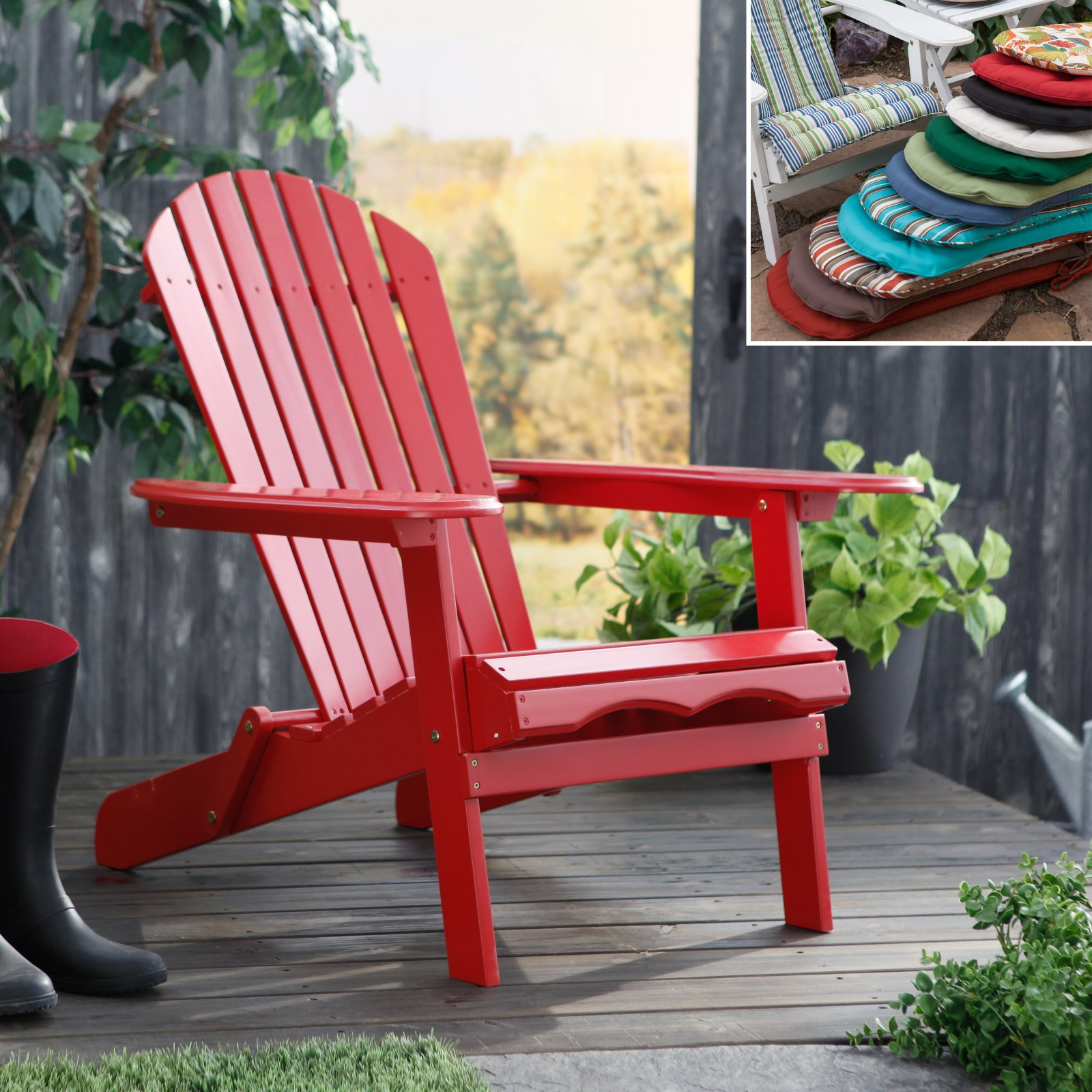 Red Adirondack Chairs Cape Cod Foldable Red Adirondack Chair With Optional Cushion