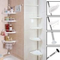 4-Tier Bathroom Corner Shelf,Adjustable Telescopic Shower ...