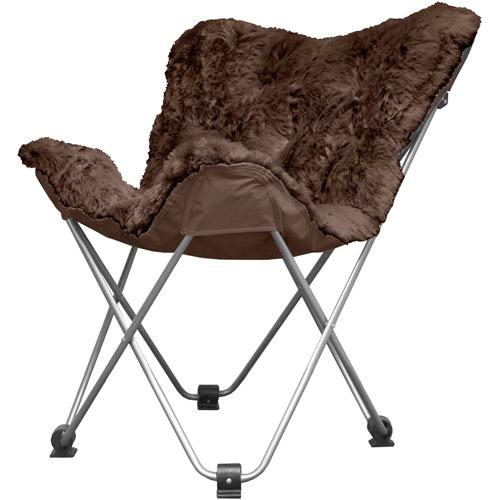Cocoon Long Hair Faux Fur Butterfly Chair Brown  Walmartcom