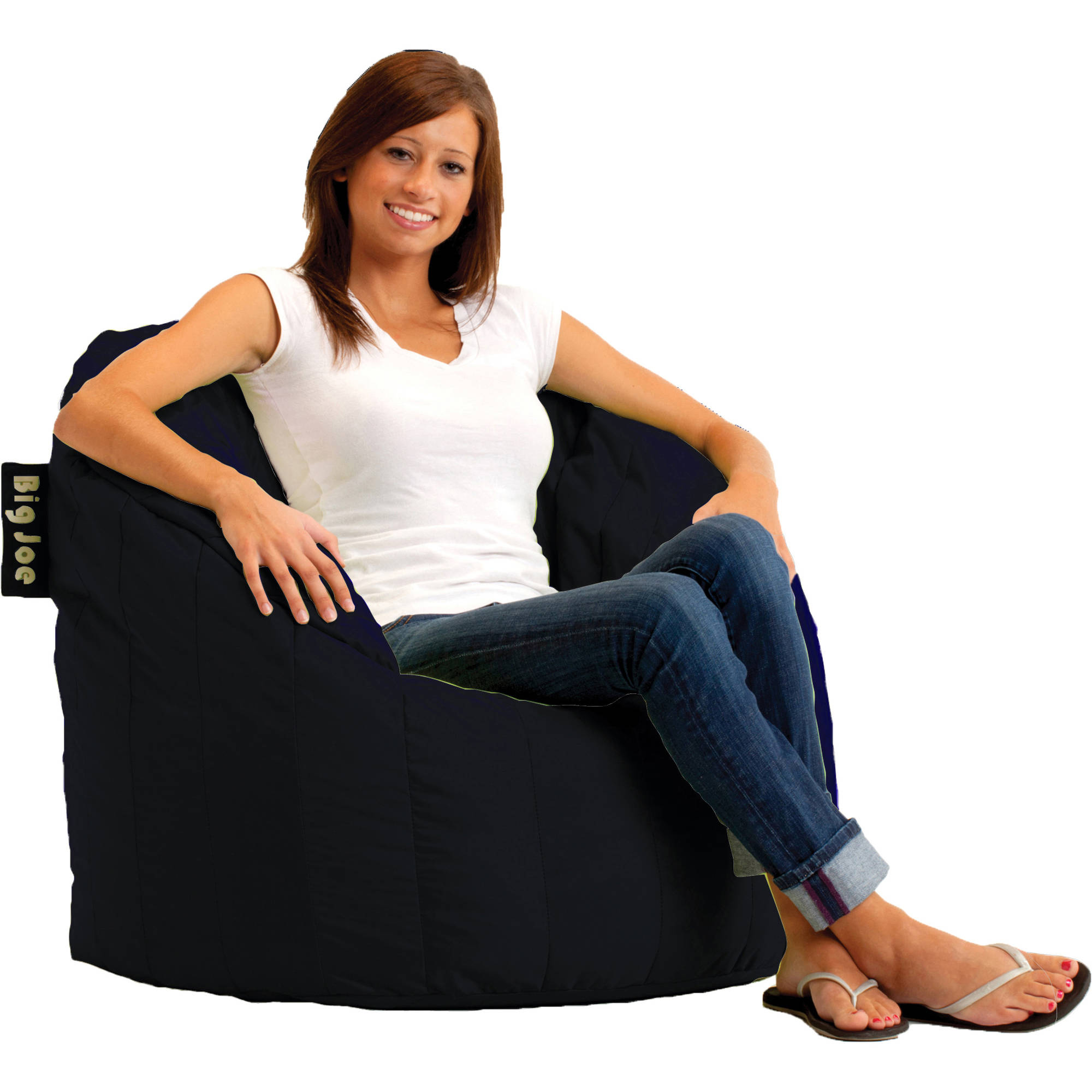 big joe bean bag chair pink perfect sleep lumin chair, available in multiple colors - walmart.com