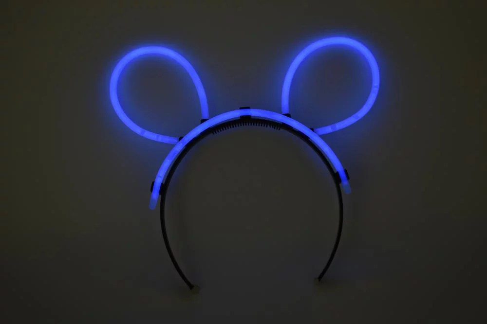DirectGlow 5 Count Blue Glow Stick Bunny Ears Fun Neon ...
