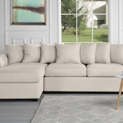 Tufted Linen Sectional Sofa Brown Leather Nailhead Trim Modern Large Fabric Scroll Arm L Shape Couch Beige Walmart Com