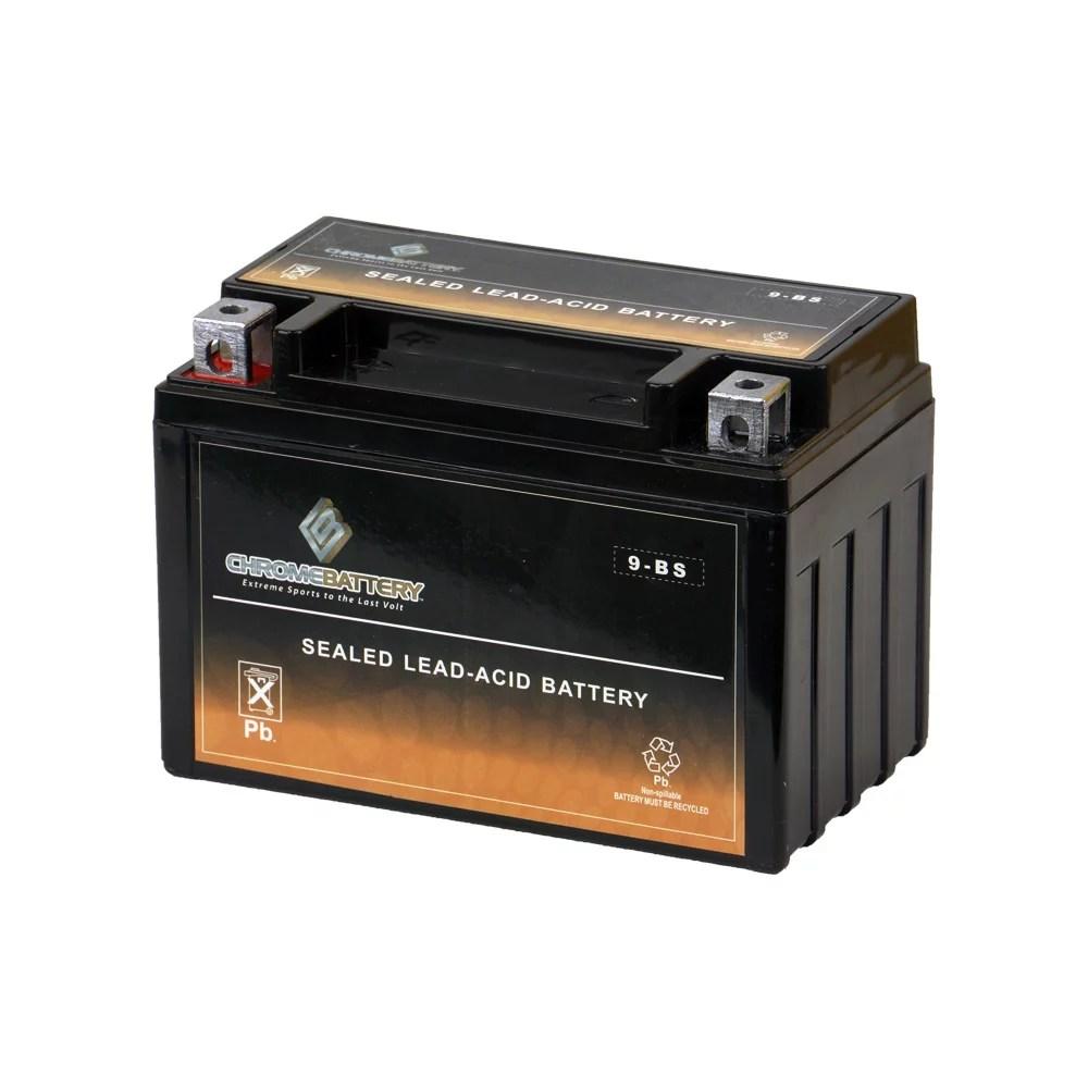 medium resolution of ytx9 bs atv battery for honda 400cc trx400ex fourtrax sportrax 2005 walmart com
