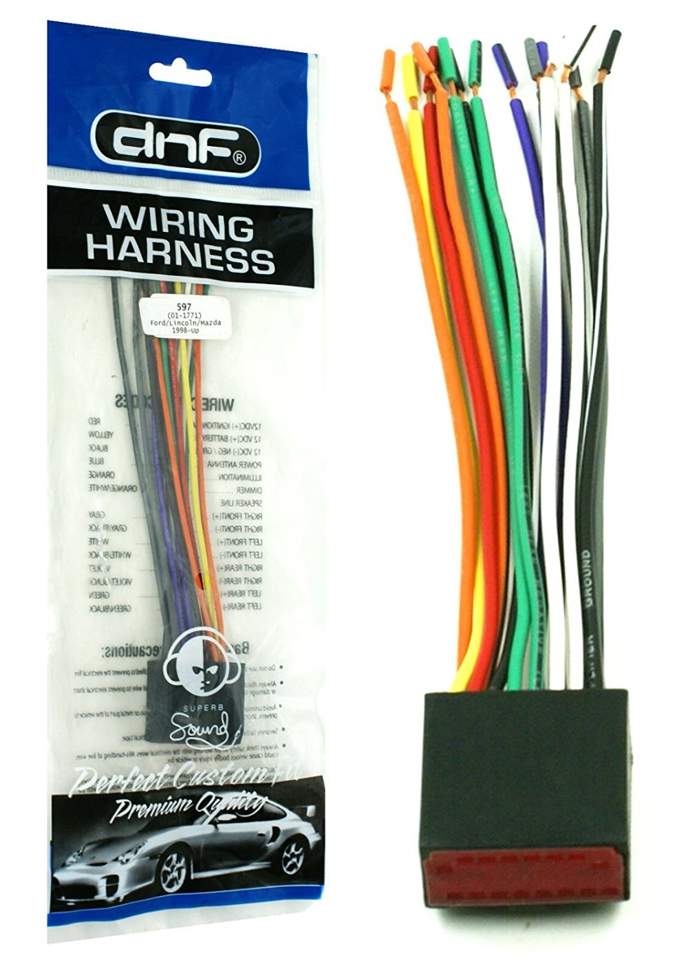 medium resolution of dnf wiring harness for factory stereos radios for select ford lincoln mazda vehicles